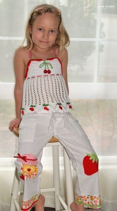 Fruity Fun. Cherry Top Pattern/Ebook PDF Sizes 2-12 Crochet