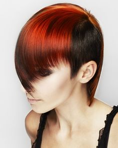 Global colour collection a rich copper and red over a dark deep chocolate