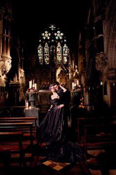 Dark Shadows Wedding Shoot – From Toast of Leeds