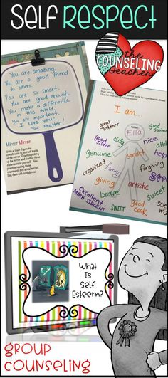 Middle school girls can always use a boost in self esteem. Learning to love oneself is especially difficult at this age. This group counseling lesson includes activities and printables that build confidence and increase self respect. Use for small group or whole group lessons. I use this resource for a girls' group but it would also work with an entire class.