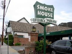 Smokehouse Restaurant, Burbank, CA. old hollywood favorite.  Best toasted cheese bread EVER!