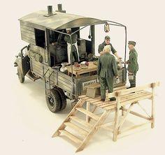 Ford Military Field Kitchen model diorama.