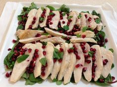 Chicken Breasts with Pomegranate and Mint