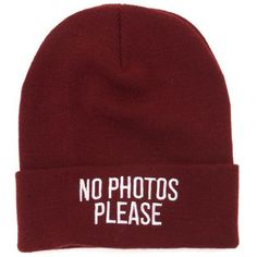 Young and Reckless No Photos Beanie (30 AUD) ❤ liked on Polyvore featuring accessories, hats, beanies, hair, burgundy, beanie hat, young reckless hats, beanie cap, embroidery hats and young & reckless
