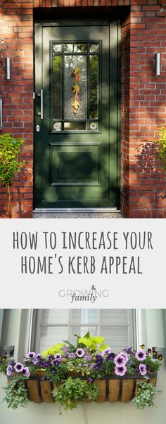 Want to enhance your home's kerb appeal? These six easy ways to set the tone and create a warm welcome will make a big difference without costing a fortune! Kerb Appeal, Uk Homes, Diy House Projects, Hanging Pictures, Beautiful Family, House Front, Windows And Doors, Diy Home Decor, Home And Family