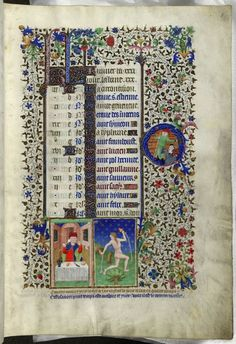 BEDFORD HOURS, France, Paris, c. 1410-1430, Add MS 18850, f. 1r. January