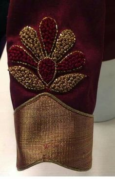 Designers Wedding Saree Informations About Designers W… Pin You can … Cutwork Blouse Designs, Wedding Saree Blouse Designs, Embroidery Neck Designs, Simple Blouse Designs, Stylish Blouse Design, Bead Embroidery Patterns, Beaded Embroidery, Saree Wedding, Hand Work Blouse Design