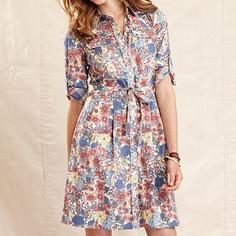 ce6f88a960 Tommy Hilfiger Dress, Three-Quarter-Sleeve Floral-Print A-Line & Reviews -  Dresses - Women - Macy's