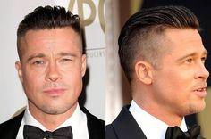 Brad Pitt mit undercut Haar Frisur