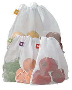 Fantastic alternatives to those plastic bags you get from the produce section. But you don't even need them. Why put all your produce into individual bags if you're just going home and wash them anyway. There is nothing wrong with free roaming veggies in your basket. Might be good for your CSA too.