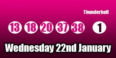 Here are the #thunderball #lottery results for Wednesday 22nd January, good luck to all the ticket holders for this draw. http://thunderballresults.org/thunderball-results-22nd-january/ #lotto