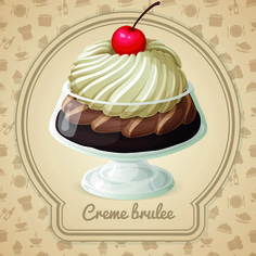 Tasty dessert background design vector 05