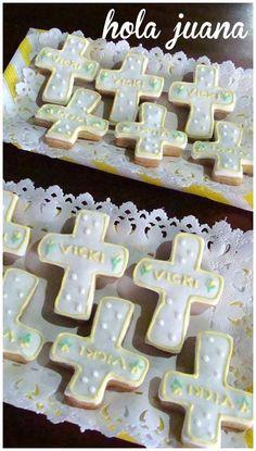 Cookies cruz con nombre.