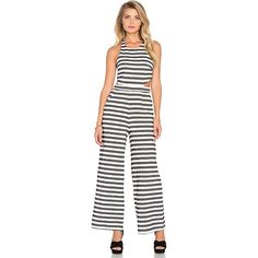 Mara Hoffman Cut Out Jumpsuit (52.210 CLP) ❤ liked on Polyvore featuring jumpsuits, rompers & jumpsuits, romper jumpsuit, mara hoffman, white jump suit, white romper jumpsuit and cut out jumpsuit