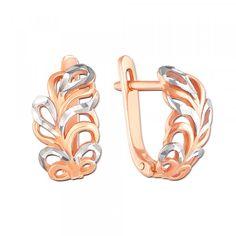 Золоті сережки з алмазною гранню. Артикул 21199 к : купити в інтернет-магазині…