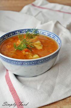 Simply Food: Zupa z czerwonej soczewicy i warzyw Simply Recipes, Simply Food, Aga, Dessert Recipes, Desserts, Food And Drink, Menu, Cooking, Ethnic Recipes