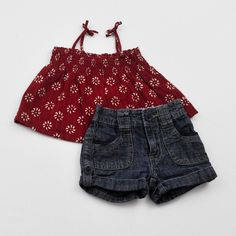 Baby Girl 6-9 mos. Tunic and Shorts- Gently Used- Baby Gap with The Children's Place- Click to see the whole lot!