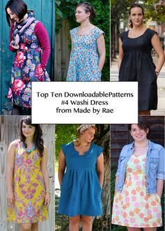 Top Ten Downloadable Patterns for 2013 - Washi Dress Pattern from Made by Rae. pattern $16.00