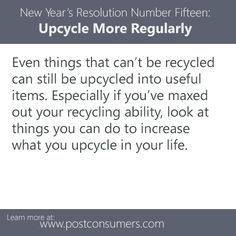 Resolve To: Upcycle More Regularly