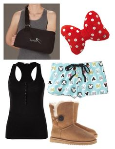 """ootd on poly"" by to-infinityy-and-beyond ❤ liked on Polyvore featuring Disney and UGG Australia"