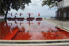 La piscine du Library, Thailande
