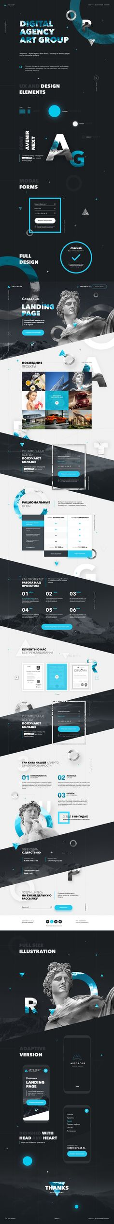Onepage template for Digital Agency Art-Group.