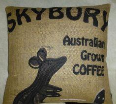 """Kissenbezüge - Kaffeesackbezug """"Skybury I"""", ca.40 x 40 cm - ein Designerstück…"""