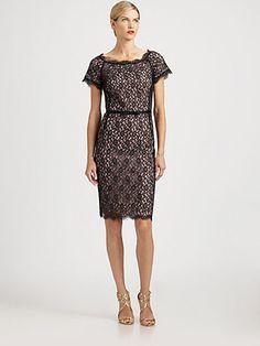 St. John - Lace Dress - Saks.com