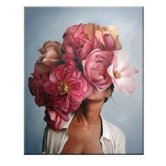 Abstract Art Canvas art of Flower Feather Women Pop art in Modern wall decor Poster Pictures, Wall Art Pictures, Abstract Canvas, Canvas Art, Wall Canvas, Canvas Paper, Images D'art, Kunst Poster, Wall Art Prints