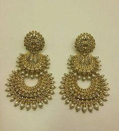 Buy Jewellery Online in India I Love Jewelry, Pearl Jewelry, Wedding Jewelry, Gold Jewelry, Jewelery, Jewelry Design, Indian Jewellery Online, India Jewelry, Hanging Earrings