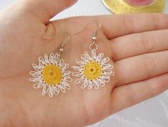 .Oya lace earrings