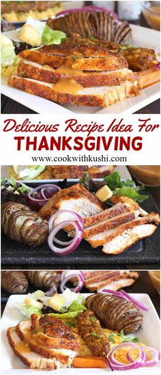 To make your holiday night easy and extra special, I am sharing a delicious recipe idea for Thanksgiving created using Jennie-O® Oven Ready™ Turkey and some tasty sides.  #spicy #dinner #Lunch #turkey #potatoes #thanksgiving #ad #christmas #holiday #entertaining #buzzfeedfood #feedfeed #jennieoholiday #jennio #ovenreadyturkey
