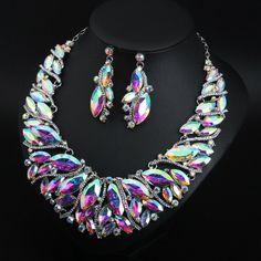 1 Pair of Earrings. Chain Earrings, Rhinestone Necklace, Crystal Necklace, Crystal Rhinestone, Fashion Necklace, Fashion Jewelry, Costume Jewelry Sets, Bridal Jewelry Sets, Pendant Jewelry
