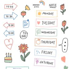 Journal Stickers, Printable Planner Stickers, Scrapbook Stickers, Doodle Png, Instagram Frame, Good Notes, Cute Stickers, Sticker Design, Title Ideas