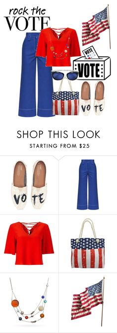 """""""Untitled #663"""" by the-luxurious-glam ❤ liked on Polyvore featuring TOMS, Miss Selfridge and Chanel"""