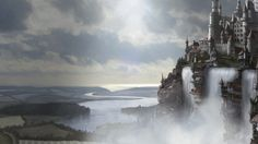 fantasy medieval castle rivers war water cities wallsave waterfalls farms