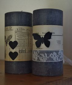 Bougies -  Vieux papier