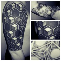 bold geometric tattoo design