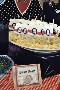 Amanda's Parties TO GO: Pirate Party {Customer Party} Pirate Boats