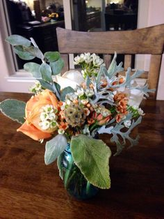 Fall vintage rustic in orange and cream