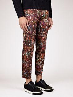 Paul Smith Men's Marble Printed Trousers   oki-ni