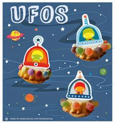 Extraterrestres: Toppers para Cupcakes para Imprimir Gratis.