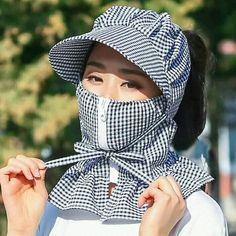 New Women Multi Function Anti-UV Summer Hats – Liberation Xchange Summer Scarves, Summer Hats, Winter Hats, Scarf Summer, Easy Face Masks, Diy Face Mask, Sun Protection Hat, Diy Scarf, Summer Stripes