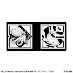 """ZNDC Studio's Octopus and Nurse Shark 1.5"""" Binder"""
