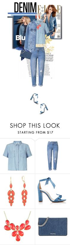"""Denim"" by downloads101 ❤ liked on Polyvore featuring Miss Selfridge, WithChic, Monet, Alexandre Birman, Miu Miu, MANGO and alldenim"