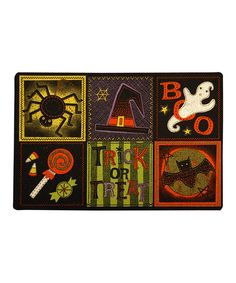 Take a look at this 'Trick or Treat' Square Doormat by Mohawk Home on #zulily today!