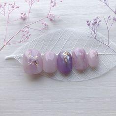 Purple Ombre Nails, Lilac Nails, Soft Nails, Cute Acrylic Nail Designs, Cute Acrylic Nails, Nail Art Designs, Cute Nail Art, Cute Nails, Pretty Nails