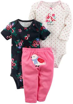 c0cbaf07ede Carter s 3-pc. Layette Set-Baby Girls - JCPenney