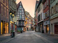 Colmar - Colmar, Alsace wine district in France.