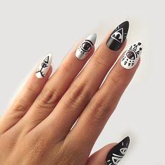 Illuminati - Fake Nails via VANILLA VICE. Click on the image to see more!
